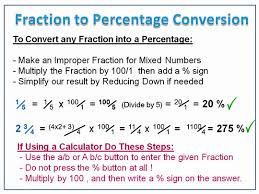 converting fractions to percentages passy u0027s world of mathematics