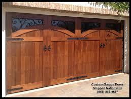 Garage Door Designs Mediterranean Garage Door Designs In Solid Wood This Door Metal