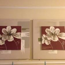 Find more 3d Flower Wall Decor Appx Meas 24x24 Ivory burgundy