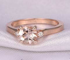 solitaire stone rings images Morganite engagement ring 14k rose gold 6 5mm round stone jpg
