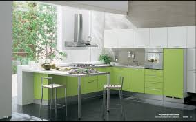 kitchen interiors photos modern green kitchen interior design decobizz com