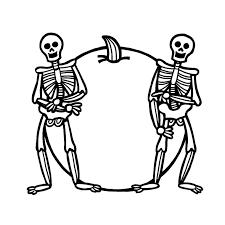 coloriage halloween squelette a imprimer gratuit