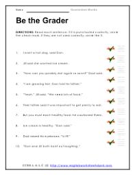 quotation marks worksheet third grade