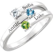 mothers rings images 14kt white 3 stone ring mounting for mother request your quote jpg