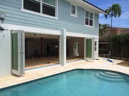 Sliding Glass Patio Door Hardware Exterior Bi Fold Glass Patio Door Near Out Door Pool Bi