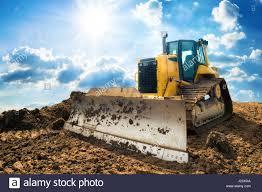 bulldozer digger excavator yellow stock photos u0026 bulldozer digger