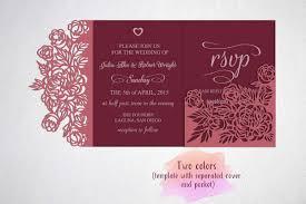 tri fold wedding invitation template tri fold wedding invitation template sv design bundles