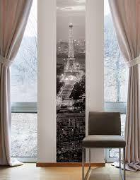 trending parisian decor poptalk modern bedroom in light tones paris wall mural via wallpops