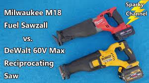 amazon milwaukee m18 black friday deals milwaukee m18 sawzall vs dewalt 60v max reciprocating saw faceoff