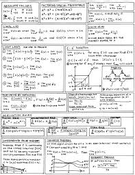 calculus cheat sheet i made a sheet much like this when re