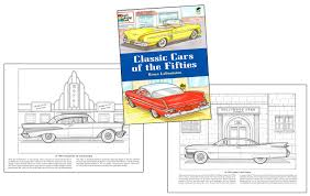 classic cars fifties coloring book vintage car coloring