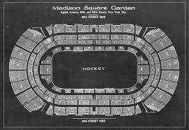 print of vintage madison square garden seating chart on your