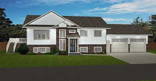 bi level floor plans with attached garage corner lot or country bi level with a 2 car garage open