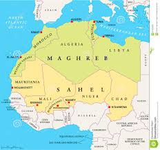 Middle East Map Capitals by Maghreb And Sahel Political Map Stock Photo Image 47920053