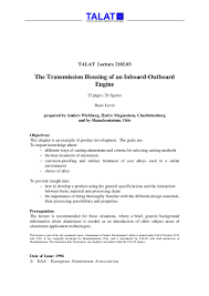 example of acknowledgement of thesis talat lecture 2102 03 the transmission housing of an inboard outboar