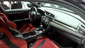 inside of a honda civic exclusive look at the 2018 honda civic type r interior la debut