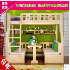 Desk Bunk Bed Combo Childrens Picture Multifunction Wood Bed Bunk Bed Desk Bed Combination