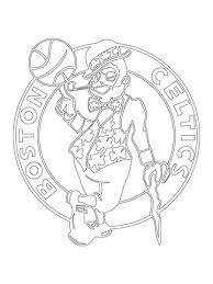 Celtics Coloring Pages boston celtics logo coloring page free printable coloring pages