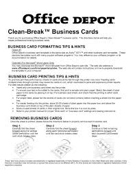 Biz Card Template Office Depot Business Card Templateletter Examples And Writing