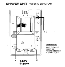 fitting an electrical shaver point how to fit a shaving socket