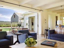 Living Rooms With Blue Couches by Sliding Door Curtains Living Room Farmhouse With Blue Armchair