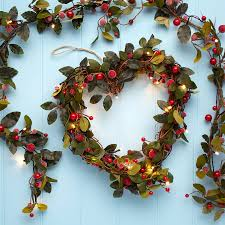 led christmas heart shaped red berry wreath tutti decor ltd