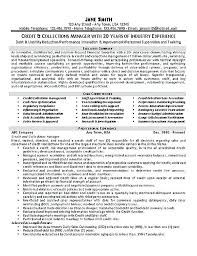 sample resume for credit manager useful materials for credit