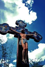 statue of jesus christ cross by currius on deviantart
