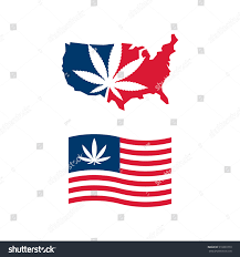 Us Flag Facts American Flag Us Map Cannabis Vector Stock Vector 519329779