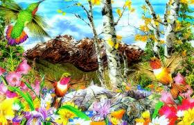 forests drawings nature four seasons creative spring gardening