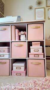 bedroom storage bins pink and gold painted fabric storage bins awesome bedroom storage