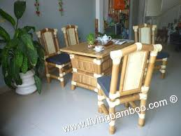 bamboo dining room table bamboo dining room chairs ho dining table set and four side chairs
