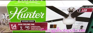 Hunter 54 Ceiling Fan by Costco Sale Hunter Avia Led Ceiling Fan 98 99 Frugal Hotspot