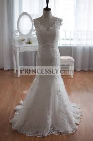 luxury mermaid wedding dresses elegantly luxury mermaid lace wedding gown of open back knot