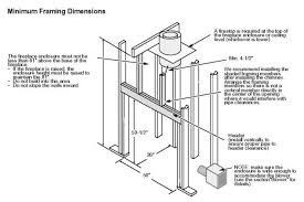 Standard Fireplace Dimensions by Download Wood Burning Fireplace Dimensions Garden Design