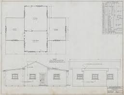4 room house plan and elevations of 4 room house for logging dept hammond lumber