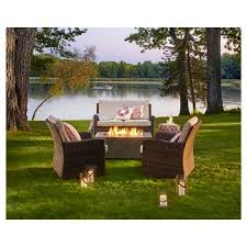 Outdoor Furniture With Fire Pit by Fire Pit Sets Target