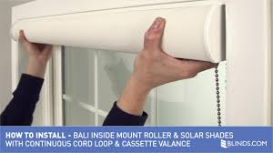 how to install bali solar roller shades with cord loop