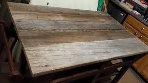 kitchen island tops diy barnwood top rustic kitchen island hometalk