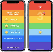 rainbrow is a new iphone x game you control with your eyebrows