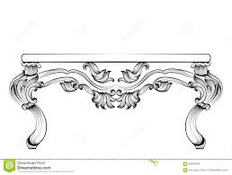 rich baroque table luxury carved ornaments decorated