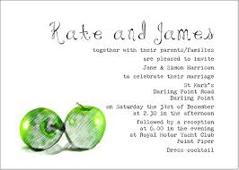 wedding wording sles wedding invitations wording sles from and groom