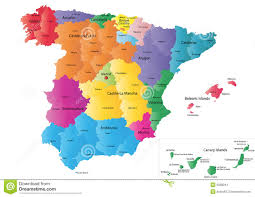 Spain Map Cities by Spain Map Stock Images Image 6088044