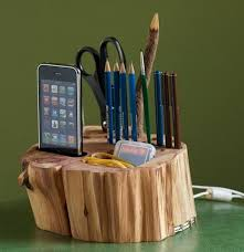 all in one desk organizer all in one wooden desk organizer with iphone charger cool stuff