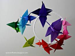a piece of kate u0027s origami crane mobile