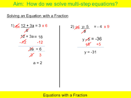 how to solve multi step equations