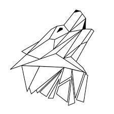 tattoo geometric outline geometric wolf outline art print wolfs pinterest outline art