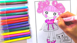 lalaloopsy videos lalaloopsy coloring pages youtube
