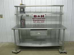 stainless steel work table with shelves stainless steel kitchen prep table mediajoongdok com