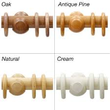 Cream Wooden Curtain Poles Curtian Poles Wooden Curtain Rings 4 Colours At Guineys